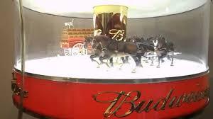 Budweiser Beer Spinning Globe Clydesdale Carousel Light