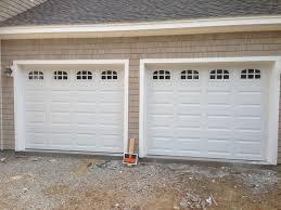 cascade garage doorHaas model 680 Steel Raised Panel Garage Doors in White with