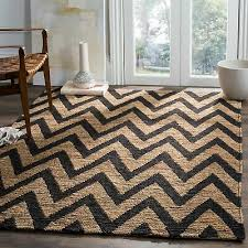 safavieh hand knotted organica black natural jute rug 9 x 12