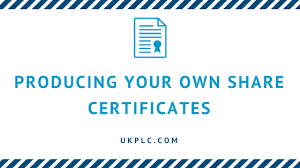 Form Of Share Certificate Producing Your Own Share Certificates