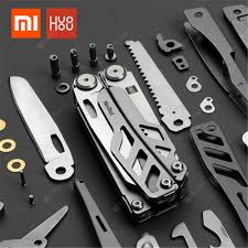 huohou 15 In 1 multi-function pocket folding knife camping survival ...
