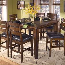 Ashley Furniture Kitchen Table And Chairs Larchmont Butterfly Leaf Pub Table By Signature Design By Ashley