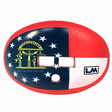 Football Mouth Guard Design Loudmouthguards Football Mouth Guard Pacifier Lip Protector Mouthpiece For Youth And Adults Georgia Flag Custom Design Multiple Colors Top And