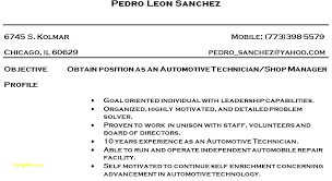 Mechanic Resume Template Fancy Auto Body Tech Resume Template With
