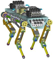 Cad Robot Design Hyq Hydraulic Quadruped Robot Website Of Claudio Semini