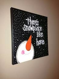 Easy paintings on canvas Beginners Diy Snowman And Snow Canvas Timetravellerco 15 Easy Canvas Painting Ideas For Christmas 2017