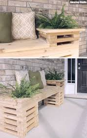wood crate furniture diy. DIY Wood Crate Outdoor Bench Furniture Diy E