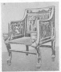 История и развитие мебели мягкая мебель Реферат страница  Рисунок 1 Египетские кресла а деревянное б обитое