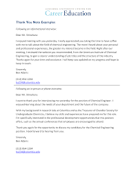 Sample Thank You Letter For An Education Teaching Position