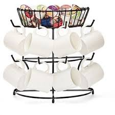 Tea Cup Display Stand Mug Tree Rack Coffee Tea Cup Holder Stand Hold Organizer Storage 75