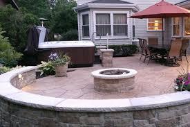 concrete patio with fire pit. Contemporary Pit STAMPED CONCRETE PATIO AND FIREPIT With Concrete Patio Fire Pit N
