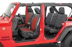 rugged ridge heated ballistic front seat covers 07 18 jeep wrangler jk quadratec
