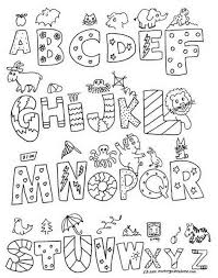 Small Picture Alphabet Coloring Pages A Perfect Alphabet Coloring Pages Az