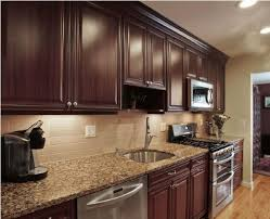 Kitchen Backsplash Dark Cabinets Great Kitchen Backsplash Ideas For