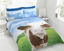 daisy cow animal photo print novelty bedding duvet