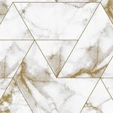 Behang Marble Goud Vliesbehang 974x280cm 2 Sheets Wonenmetlefnl