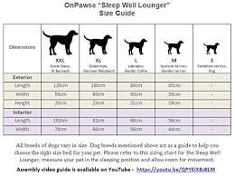 On Paws Sleep Well Lounger Dog Bed Black Gray Size S 50 X 40 Cm Teflon Protected Machine Washable Detachable Covers 5 Sizes Choice Of