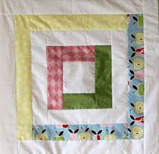 Pretty Pastels Log Cabin Baby Quilt | FaveQuilts.com & Pretty Pastels Log Cabin Baby Quilt Adamdwight.com
