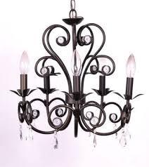 5 light black portfolio chandelier