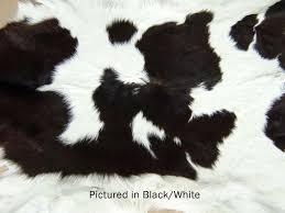 black white moomoo cowskin rug