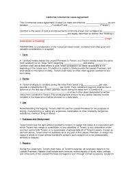 lease contract template california commercial lease agreement edit fill sign online