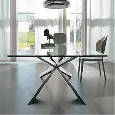 italian glass furniture. Modern Contemporary Spyder Glass Italian Dining Table By Cattelan Italia Furniture