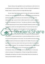 the starry night essay example topics and well written essays text