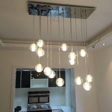 lighting floating bubble chandelier with recessed and wood cabinet for living room beauty home decor fixtures all images wine glass orb