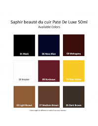 Saphir Medaille D Or Color Chart