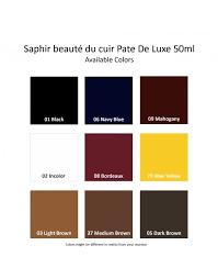 Saphir Creme Surfine Colour Chart