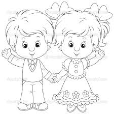 Small Picture Boy And Girl Coloring Pages chuckbuttcom