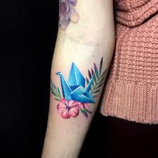акварель тату эскиз журавль цветы графика татуировки эскизы в 2019
