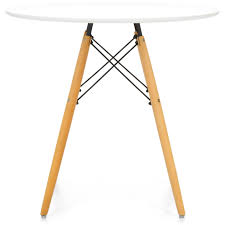 best choice s mid century modern eames style round dining table w wood legs and