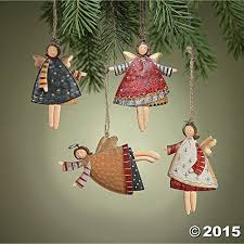Amazon.com: Lot of 12 Dancing Tin Angels Christmas Tree Ornaments ...