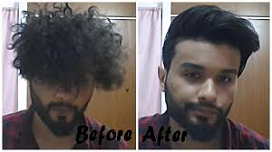 Strait Hair Style from curly to straight hairstyle for men youtube 5783 by wearticles.com