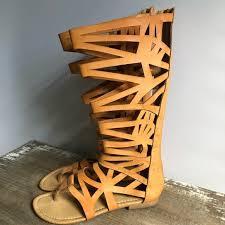 Bucco Tall Laser Cut Gladiator Sandals