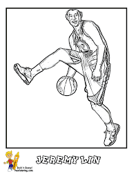 basketball coloring pages with player