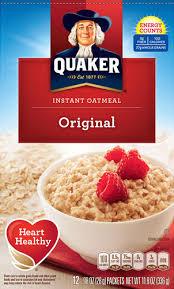 quaker instant oatmeal original 12 packets