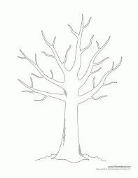 Tree With No Leaves Coloring Page - Coloring Pages For Kids And ...