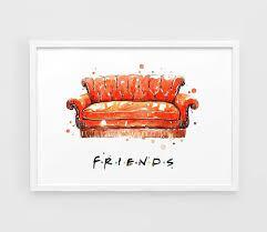 friends tv show poster art print