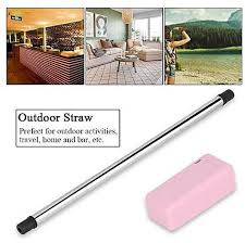 images gallery collapsible portable reusable stainless steel straw for outdoor travel household