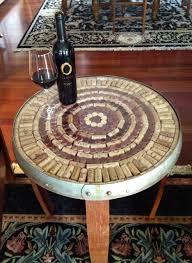 wine barrell furniture. wine barrel table cork kit barrell furniture