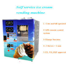 Self Service Ice Cream Vending Machine Simple Coin Operated Ice Cream Vending Machine Selfservice Counter