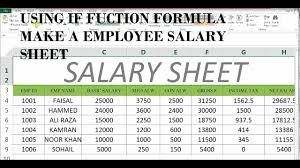 wages register in excel how to make salary sheet in ms excel 43 youtube