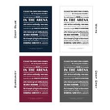 Theodore Roosevelt Man In The Arena Typographic Print