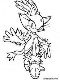 Printable Sonic The Hedgehog Blaze Coloring Pages Printable