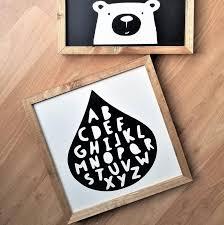 kids alphabet wall art wood signs for