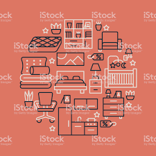 Furniture sale banner Vinyl Banners Furniture Sale Banner Illustration With Flat Line Icons Interior Store Poster With Living Room Signs4retail Furniture Sale Banner Illustration With Flat Line Icons Interior