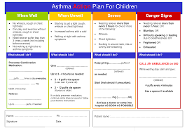 Child Asthma Action Plan Templates At Allbusinesstemplates
