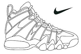 Coloring Page Coloring Page Jordan Shoes Coloring Pages Online